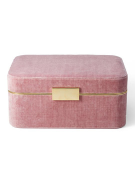 Beauvais Velvet Jewelry Box by Aerin