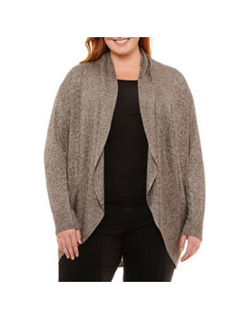 Worthington Long Sleeve Cardigan Plus by Worthington