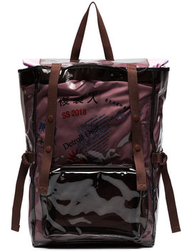 X Eastpack Burgundy Volume Topload Pvc Backpack by Raf Simons