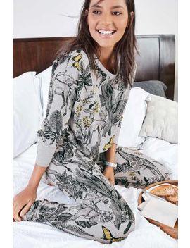 Grey Jungle Cotton Rich Jersey Pyjamas by Next