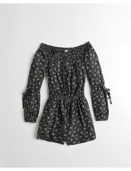 Off The Shoulder Rayon Romper by Hollister