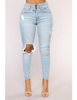 Hit Me Up Ankle Jeans   Medium Blue Wash by Fashion Nova