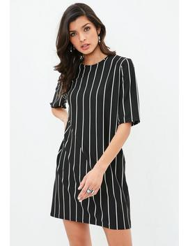 Black Striped T Shirt Dress by Missguided