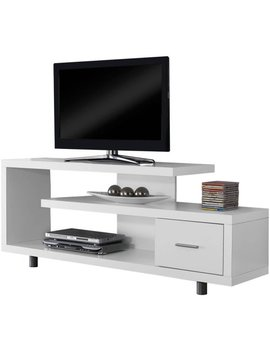 "Monarch Tv Stand White With 1 Drawer For T Vs Up To 47""L by Monarch Specialties"