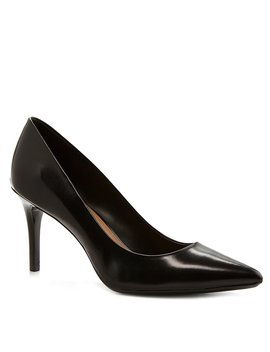 Gayle Leather Pointed Toe Pumps by Calvin Klein
