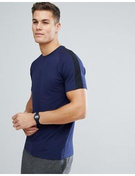 Selected Homme T Shirt With Raglan Striped Sleeve by Selected Homme