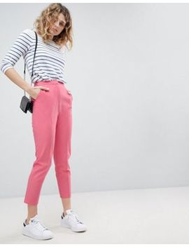 Asos Cigarette Pants In Pop Pink by Asos Collection