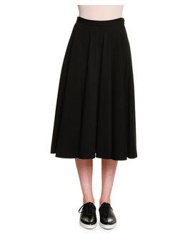 Atomic Jersey Circle Skirt, Black by Tomas Maier