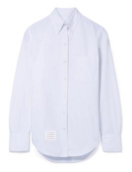 Appliquéd Cotton Oxford Shirt by Thom Browne