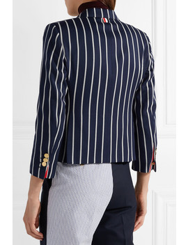 Striped Wool And Cotton Blend Blazer by Thom Browne