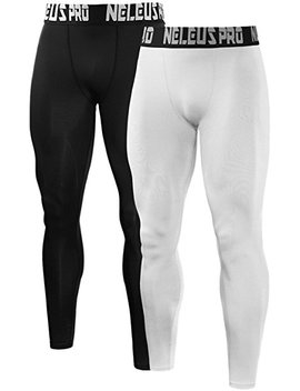 Neleus Men's 2 Pack Compression Pants Sport Tight Leggings by Neleus