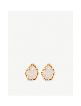 tessa-14ct-gold-plated-and-drusy-stone-earrings by kendra-scott