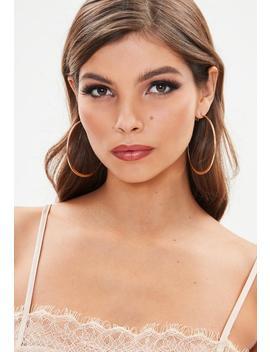 Rose Gold Hoop Earrings by Missguided
