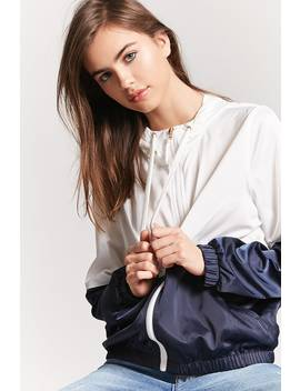 Hooded Colorblock Windbreaker by F21 Contemporary