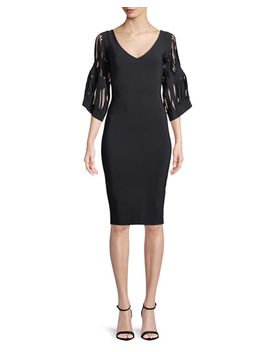 Hali V Neck Cutout Sleeve Dress by Chiara Boni La Petite Robe