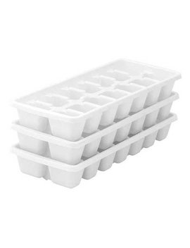 Ic0069 Ice Cube Tray     Pack Of 3 by Value Brand