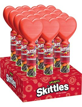 Skittles Original Tube With Heart Topper 1.5 Ounce, 12 Count by Skittles