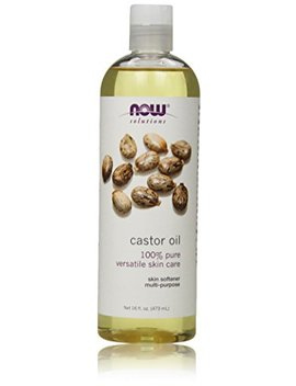 Now Solutions Castor Oil, 100  Percents Pure, 16 Ounce by Now Foods