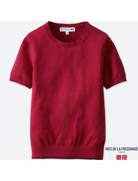 Women Idlf Cotton Cashmere Crew Neck Sweater by Uniqlo