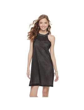 Juniors' Candie's® Grid Halter Shift Dress by Juniors' Candie's