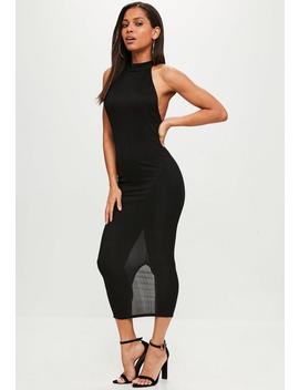 Black High Neck Maxi Dress by Missguided