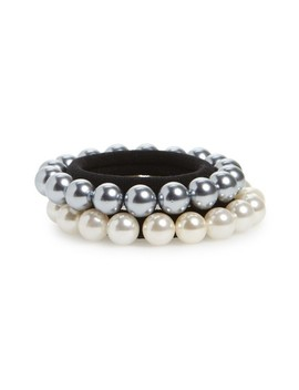 2 Pack Imitation Pearl Ponytail Holders by Cara