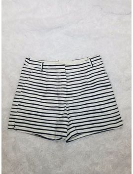 J.Crew Ladies Black & White Stripped Dress Shorts. Sz 8 by J.Crew