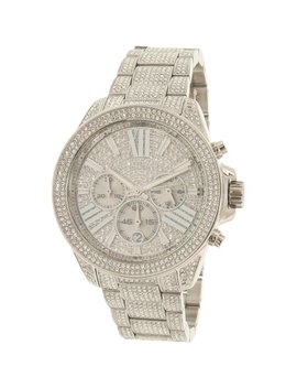 Michael Kors Women's Wren Mk6317 Silver Stainless Steel Quartz Fashion Watch by Michael Kors