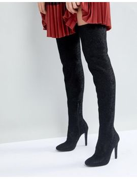 Call It Spring Black Over The Knee Boots by Call It Spring