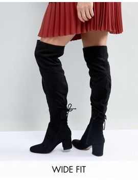 Aldo Wide Fit Pull On Over The Knee Boots by Aldo
