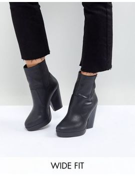 Asos Earthling Wide Fit High Ankle Boots by Asos Collection