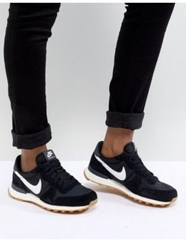 Nike Internationalist Nylon Sneakers In Black And White by Nike
