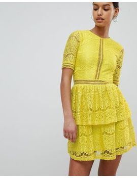 Missguided Lace Layered Mini Dress by Missguided