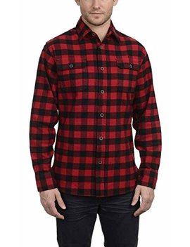 Jachs Men's Brawny Flannel Shirt (L, Red) by Jachs