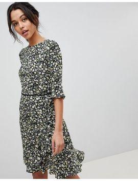 Oasis Ditsy Floral Print Frill Hem Skater Dress by Oasis
