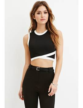 Contrast Trimmed Crop Top by Forever 21
