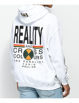 Cross Colours Reality White Hoodie by Cross Colours