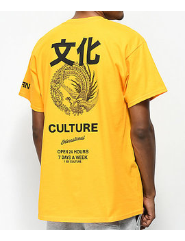 Yrn Intl. Culture Gold T Shirt by Yung Rich Nation