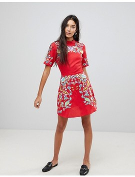 Asos Tall Premium Mini Embroidered Dress by Asos Tall
