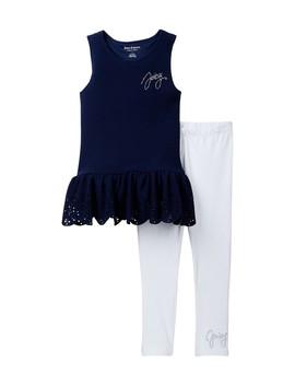 Peplum Tunic & Legging Set (Big Girls) by Juicy Couture