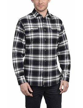 Jachs Men's Brawny Flannel Shirt (L, Black) by Jachs