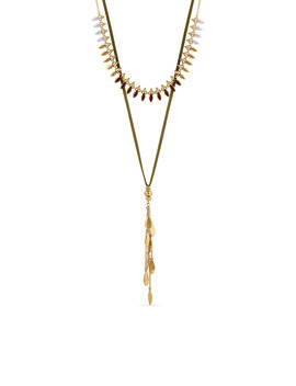 Gold Tone Chain Choker Necklace by Lucky Brand