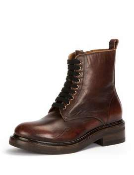 Alice Combat Zip Leather Boot by Frye