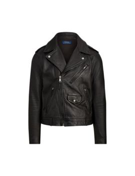 Leather Biker Jacket by Ralph Lauren