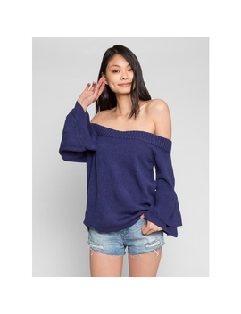 Yacht Day Off Shoulder Knit Top by Wet Seal