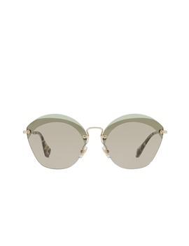 Women's Oversized Acetate Frame Sunglasses by Miu Miu