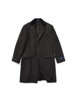 Velvet Trim Merino Wool Coat by Ralph Lauren