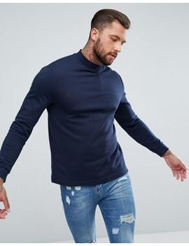Asos Sweatshirt With Side Panels In Navy by Asos