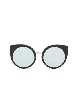 Women's Cat Eye Last Dance Mirrored Sunglasses by Quay Australia