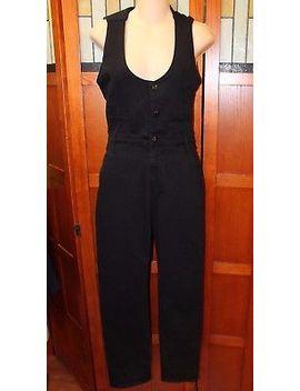 Frame Denim Black Stretch Denim Pants Jumpsuit Jumper Romper S Small Overalls by Frame Denim